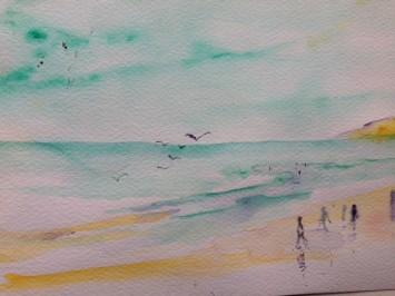 Beach (water colours)