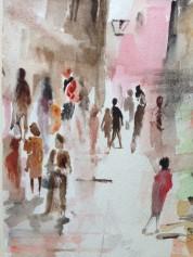 Street Scene (water colours)