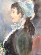 Woman in Bonnet (water colours)